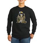 Miner Penguin Long Sleeve Dark T-Shirt
