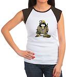 Miner Penguin Women's Cap Sleeve T-Shirt