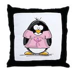 BC Surivor Penguin Throw Pillow