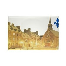 Inside Old Quebec with Lys Rectangle Magnet
