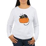 Cat w/ Pumpkin Women's Long Sleeve T-Shirt