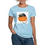 Cat w/ Pumpkin Women's Light T-Shirt