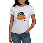 Cat w/ Pumpkin Women's T-Shirt