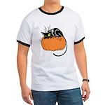 Cat w/ Pumpkin Ringer T