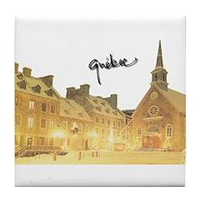 Inside Old Quebec with Signat Tile Coaster
