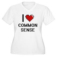 I love Common Sense Digitial Des Plus Size T-Shirt