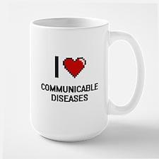I love Communicable Diseases Digitial Design Mugs