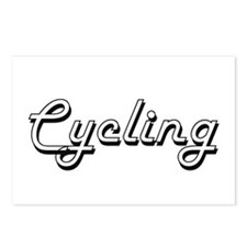 Cycling Classic Retro Des Postcards (Package of 8)