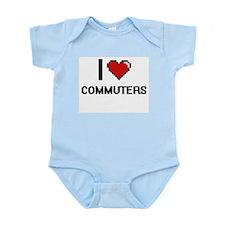 I love Commuters Digitial Design Body Suit