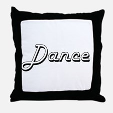 Dance Classic Retro Design Throw Pillow