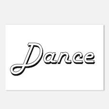 Dance Classic Retro Desig Postcards (Package of 8)