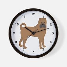 Shar Pei Wall Clock