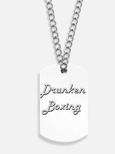 Drunken Boxing Classic Retro Design Dog Tags