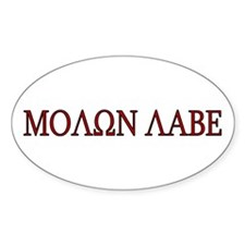 Molon Labe Oval Decal