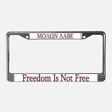 Molon Labe License Plate Frame
