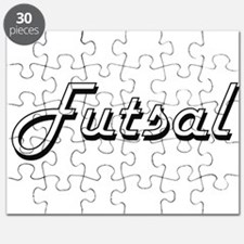 Futsal Classic Retro Design Puzzle