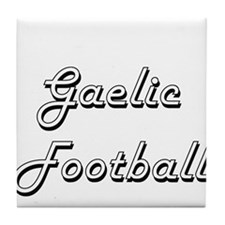 Gaelic Football Classic Retro Design Tile Coaster