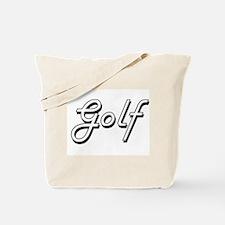 Golf Classic Retro Design Tote Bag
