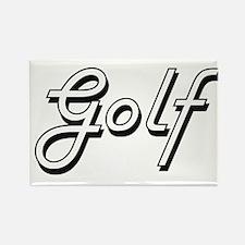 Golf Classic Retro Design Magnets