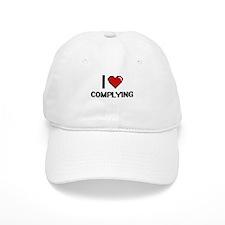 I love Complying Digitial Design Baseball Baseball Cap