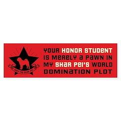 Shar Pei World Domination Bumper Bumper Sticker