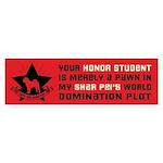 Shar Pei World Domination Bumper Sticker