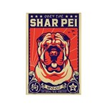 Obey the Shar Pei! Propaganda Magnet