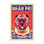 Obey the Shar Pei! Mini Poster Print