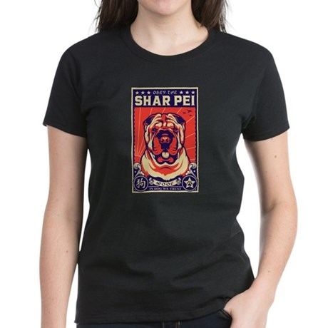 Obey the Shar Pei! Women's Dark T-Shirt