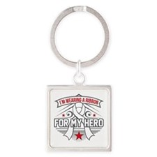 Scoliosis For My Hero Square Keychain