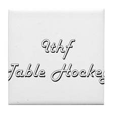 Ithf Table Hockey Classic Retro Desig Tile Coaster