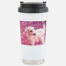 Baby Goat Whitey Stainless Steel Travel Mug