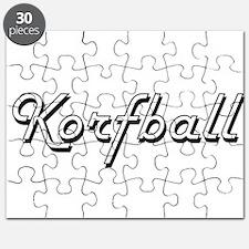 Korfball Classic Retro Design Puzzle
