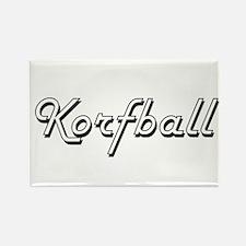 Korfball Classic Retro Design Magnets