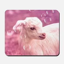 Baby Goat Whitey Mousepad