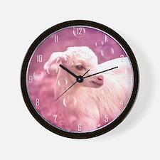 Baby Goat Whitey Wall Clock