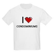I love Condominiums Digitial Design T-Shirt