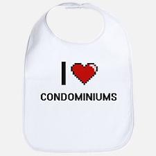 I love Condominiums Digitial Design Bib
