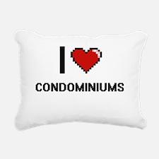 I love Condominiums Digi Rectangular Canvas Pillow