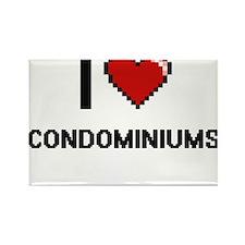 I love Condominiums Digitial Design Magnets
