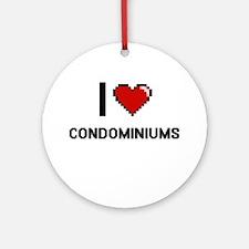 I love Condominiums Digitial Desi Ornament (Round)