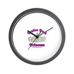 Trailer Park Princess Lace Wall Clock