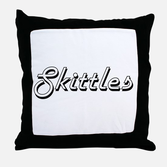 Skittles Classic Retro Design Throw Pillow