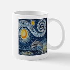 Starry Night Dolphin Mugs