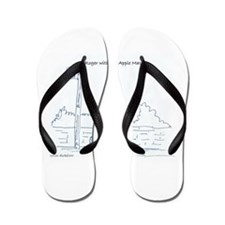 Cute Apple computer Flip Flops