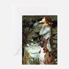 Ophelia & Brindle Boxer Greeting Card