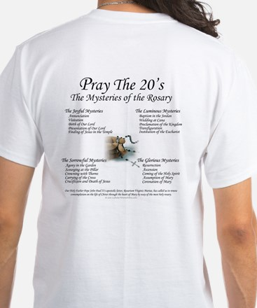 Our Lady of the Rosary White T-Shirt