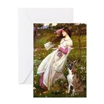 Windflowers & Boxer Greeting Card
