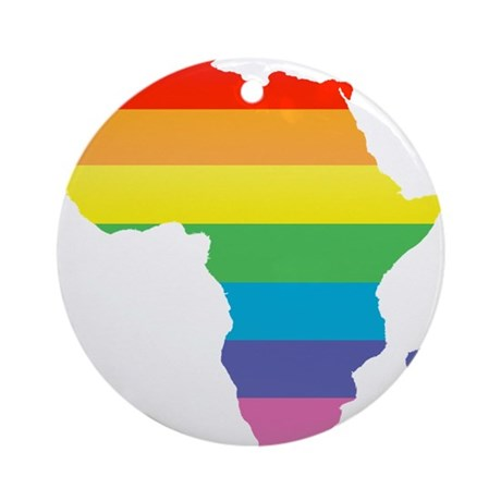 African Rainbow Ornament (Round)