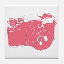 Pink Camera Tile Coaster